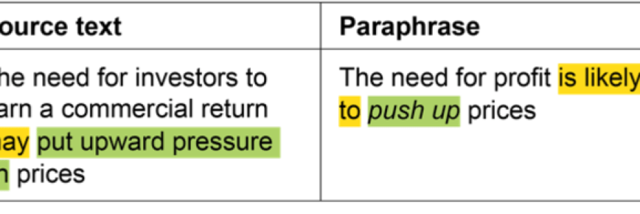 Using paraphrasing to make a text easier to understand