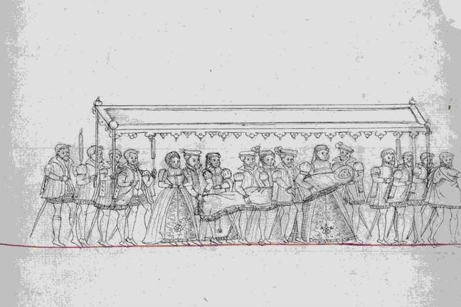 The christening procession of Edward VI