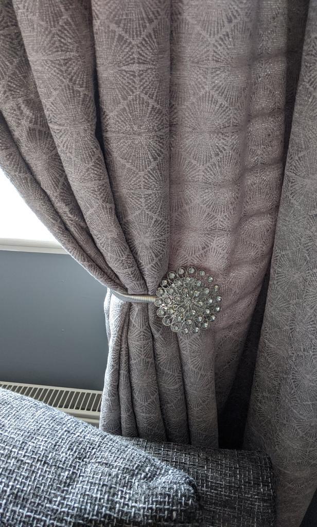 uk magnetic crystal curtain tiebacks