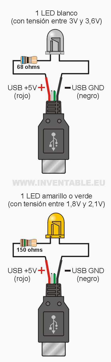 led to usb
