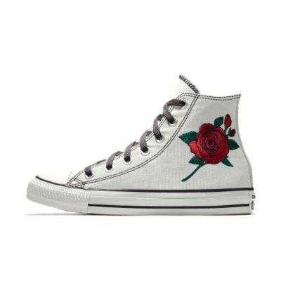 Converse Custom Chuck Taylor All Star Rose Embroidery High