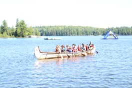 Canoeing at Orientation Camp