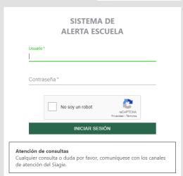 ALERTA ESCUELA