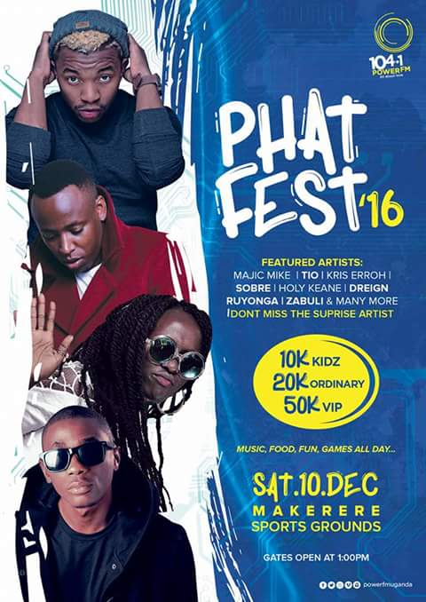 Phat Fest 2016 on Saturday 10th at Makerere Sports Ground