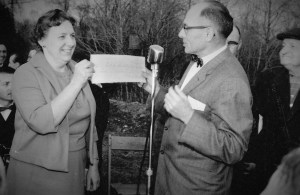 Theresa and Frank Kirsch at the Ground Breaking 1965