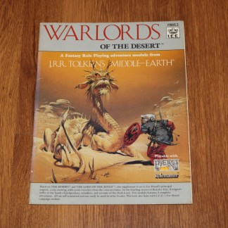ugi games toys ice iron crown merp middle earth rpg book supplement warlords of the desert 8012