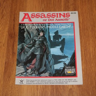 ugi games toys ice iron crown merp middle earth rpg book supplement assassins of dol amroth 8106