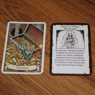 ugi games toys mb workshop heroquest wizards of morcar english treasure card