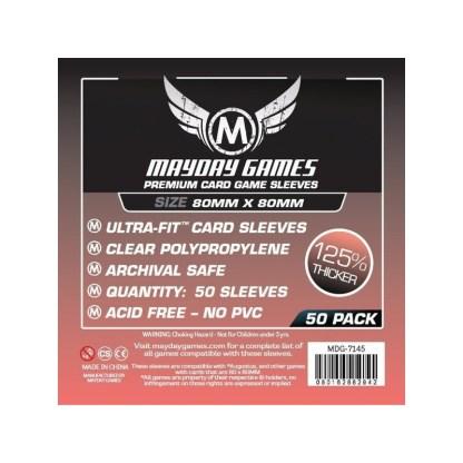 ugi games toys mayday premium medium square card sleeves 80 7145 fundas cartas