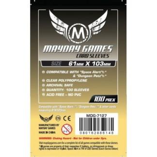 ugi games toys mayday custom magnum space card sleeves 61 103 7127 fundas cartas estandar