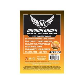 ugi games toys mayday premium yucatan narrow card sleeves 54 80 7136 fundas cartas