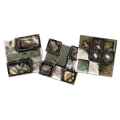 ugi games toys cmon limited zombicide green horde tile set accesorio juego mesa español
