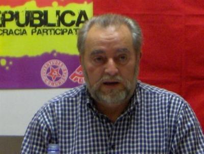 Julio Anguita, en un acto por la 3ª República