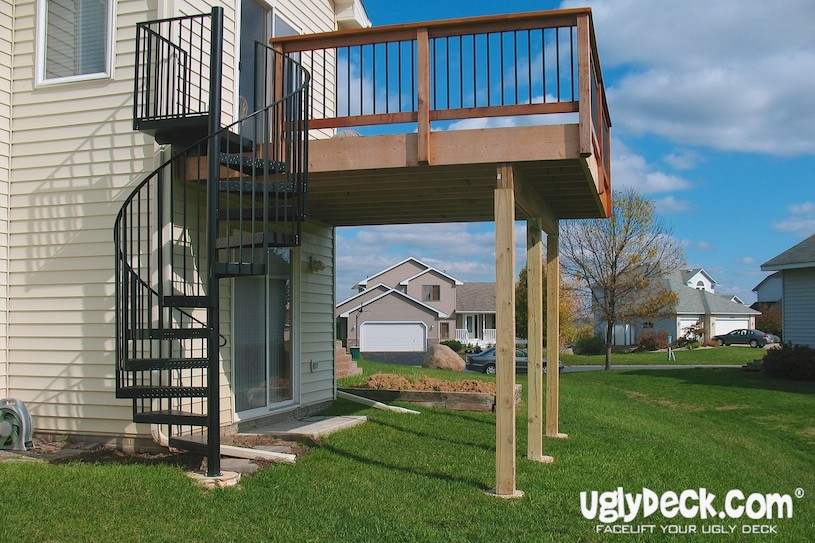 Twin Cities Outdoor Spiral Staircases – Minnesota Deck Builders | Outdoor Spiral Staircase Prices | Dipped Galvanized | Stair Treads | Furniture Ideas | Deck | Treads