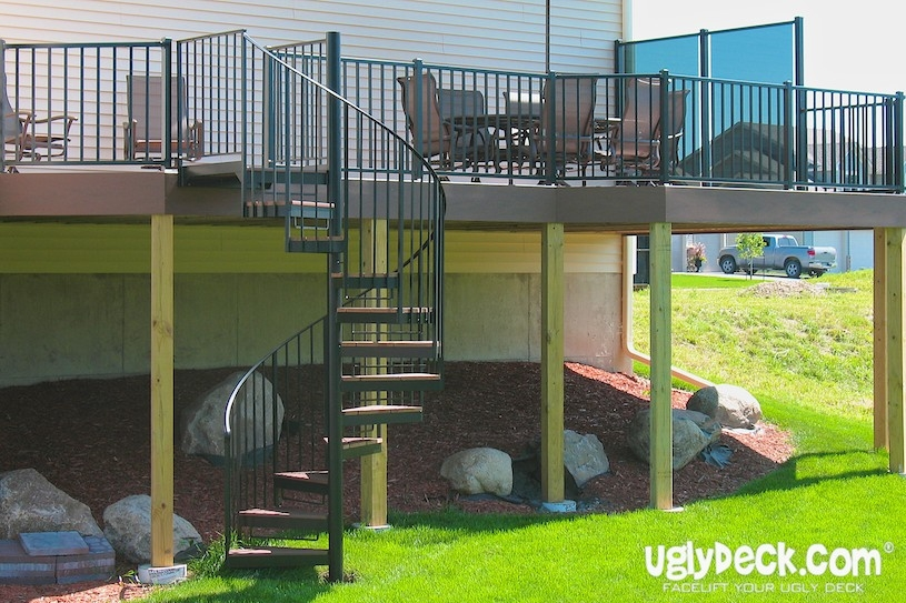 Twin Cities Outdoor Spiral Staircases – Minnesota Deck Builders | Spiral Staircase Outdoor Deck | Outside Deck | Built Spiral Stair | Balcony Outdoor | Log | 3 Storey