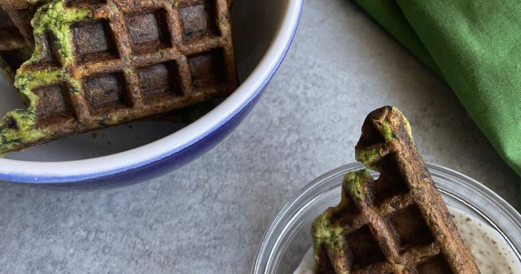 How to make kale waffles and kale waffle chips