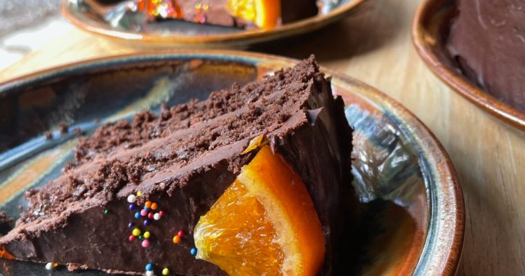 A Fudgy and Moist Chocolate Orange Cake Recipe