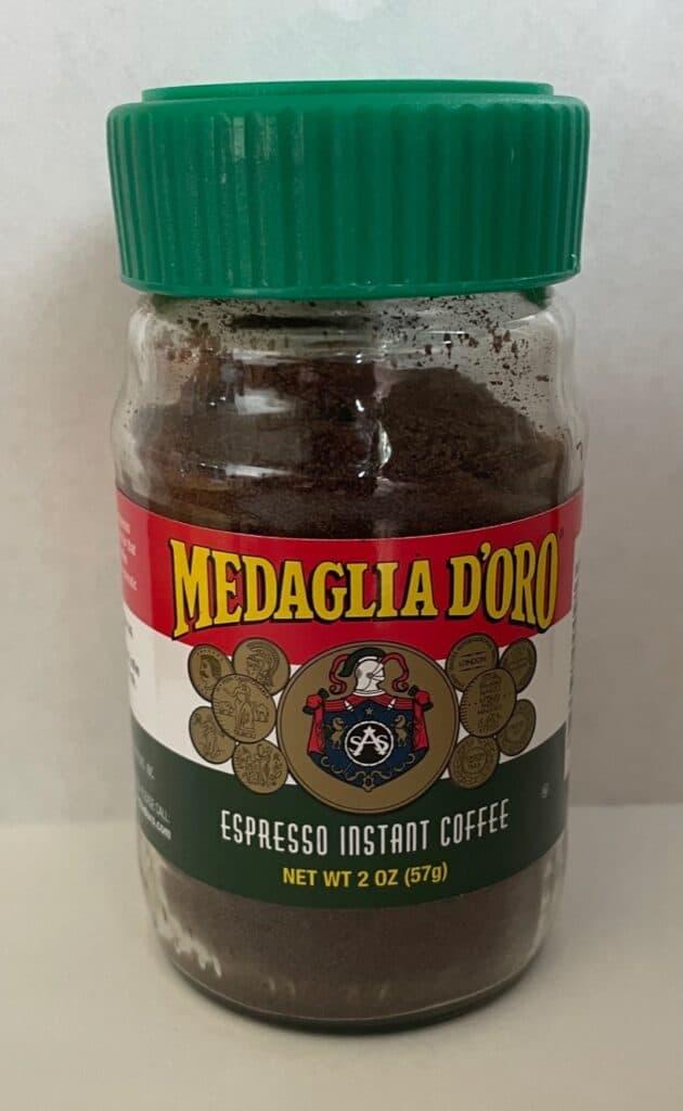 a jar of espresso instant coffee