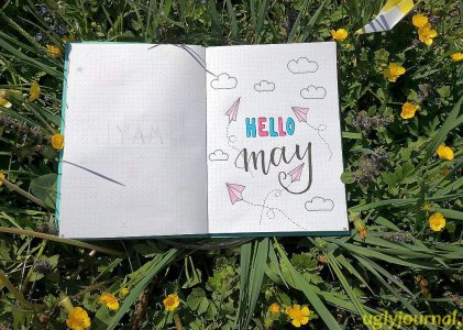 IDEAS FOR MAY BULLET JOURNAL SPREAD