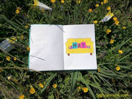 May Bullet journal Cute couch