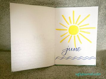 June Bullet Journal - Here comes the sun