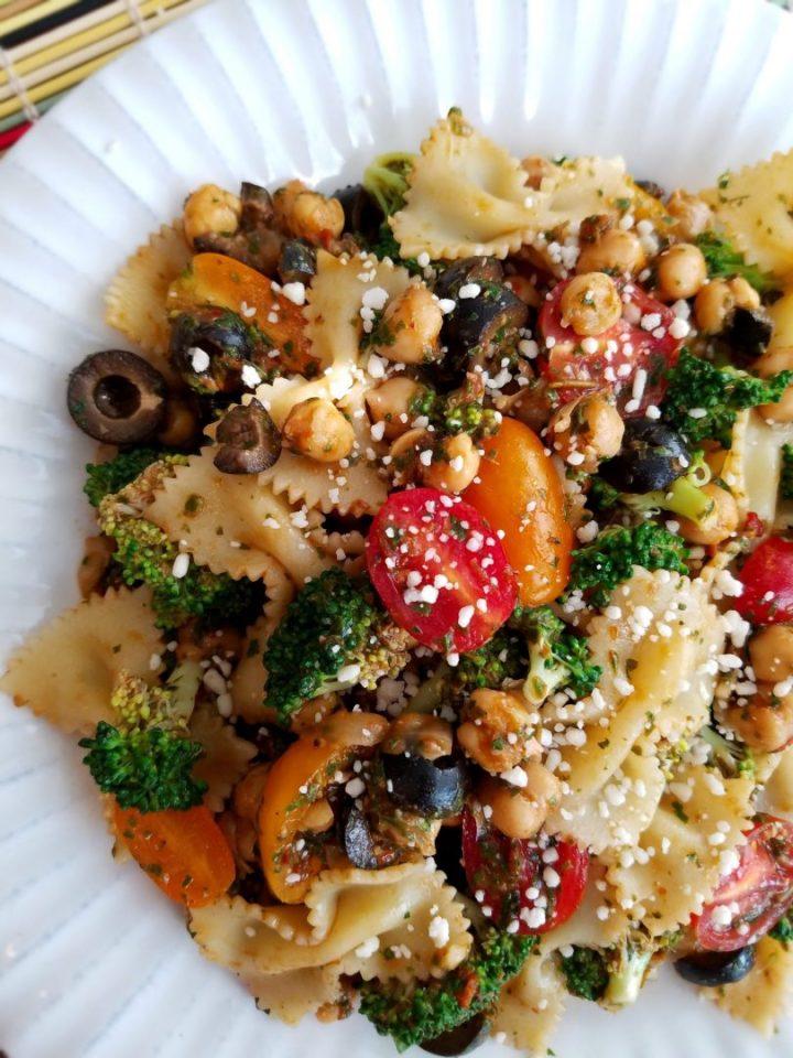 Vegan Chickpea Pasta Salad Recipe