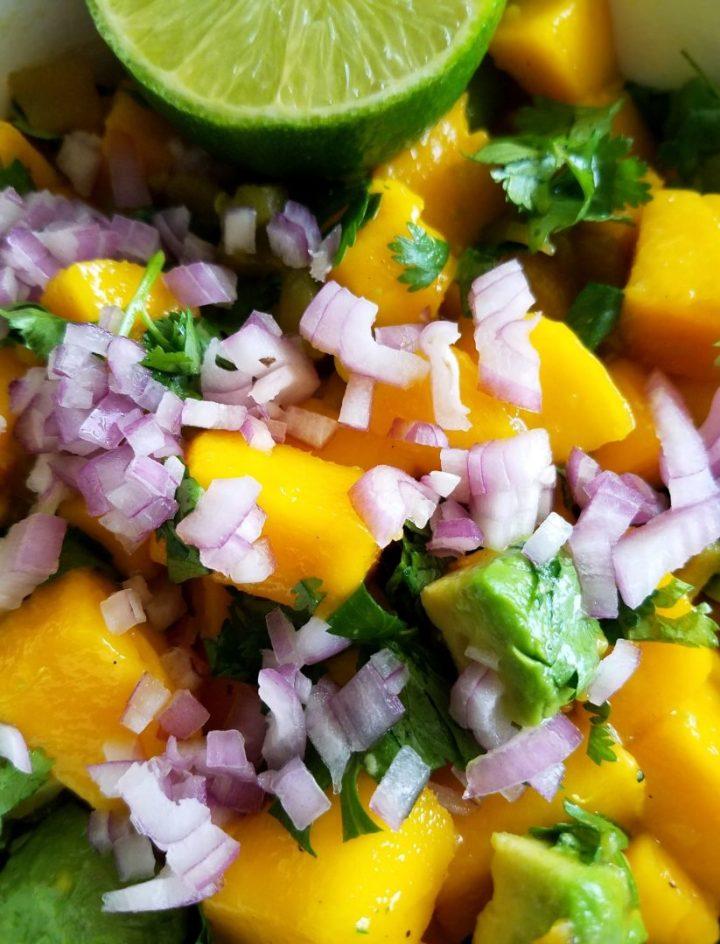 How to Make Avocado Mango Salsa