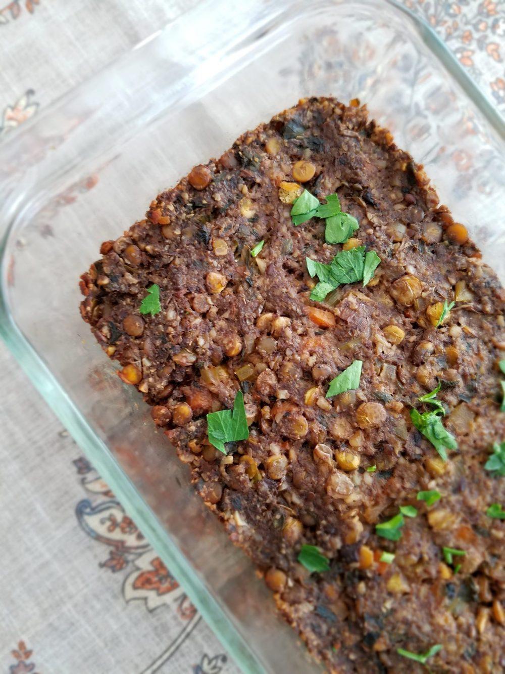 Vegan Lentil Nut Loaf Recipe