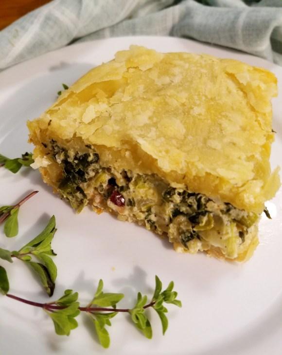 Recipe for vegan spinach pie