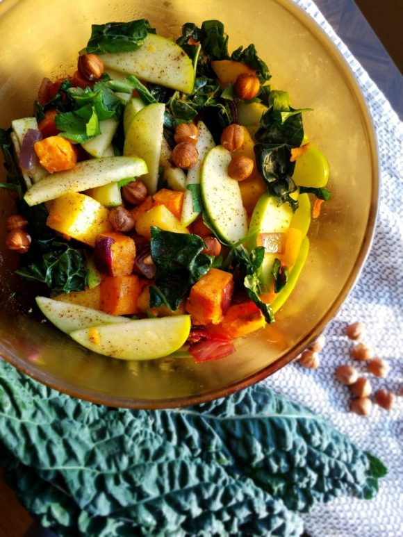 Vegan Kale Apple Salad Recipe