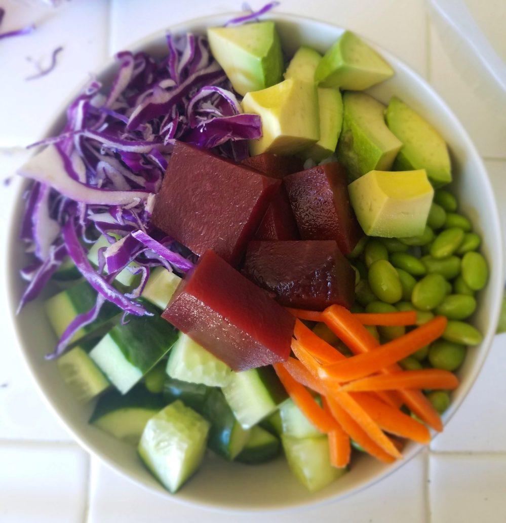 Beet Avocado Poke Bowl Recipe