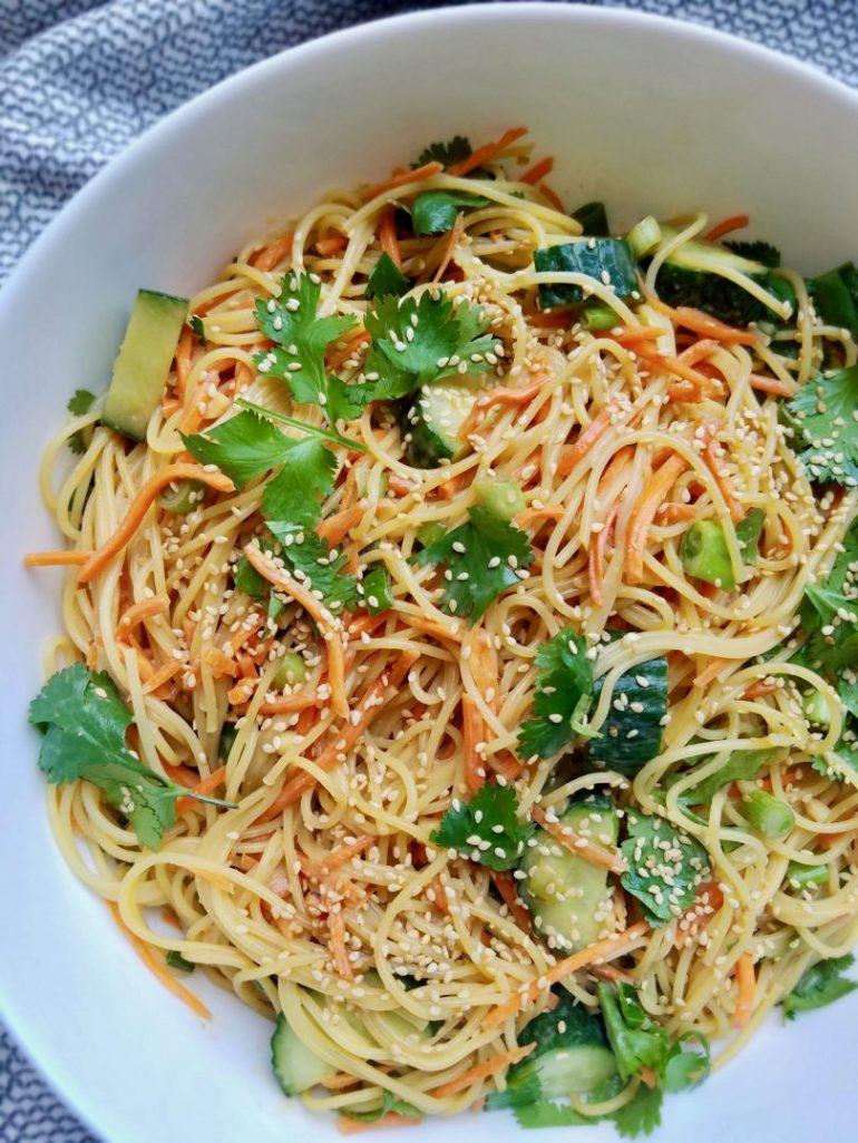 Asian Pasta Salad Vegan