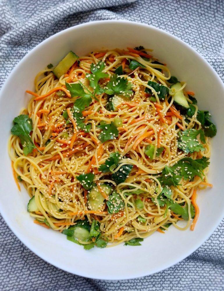 Asian Noodle Salad No Peanuts