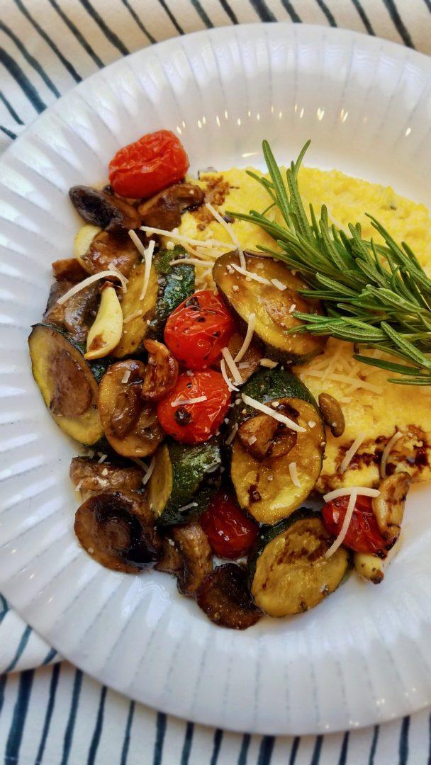 Vegan Polenta and Vegetables