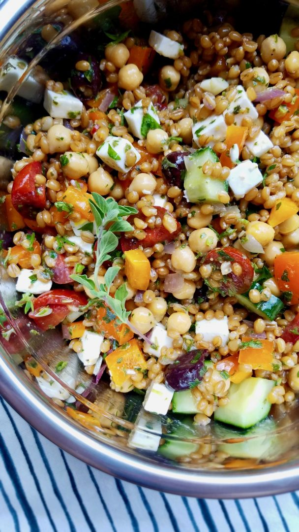 Wheat Berry Salad Vegan