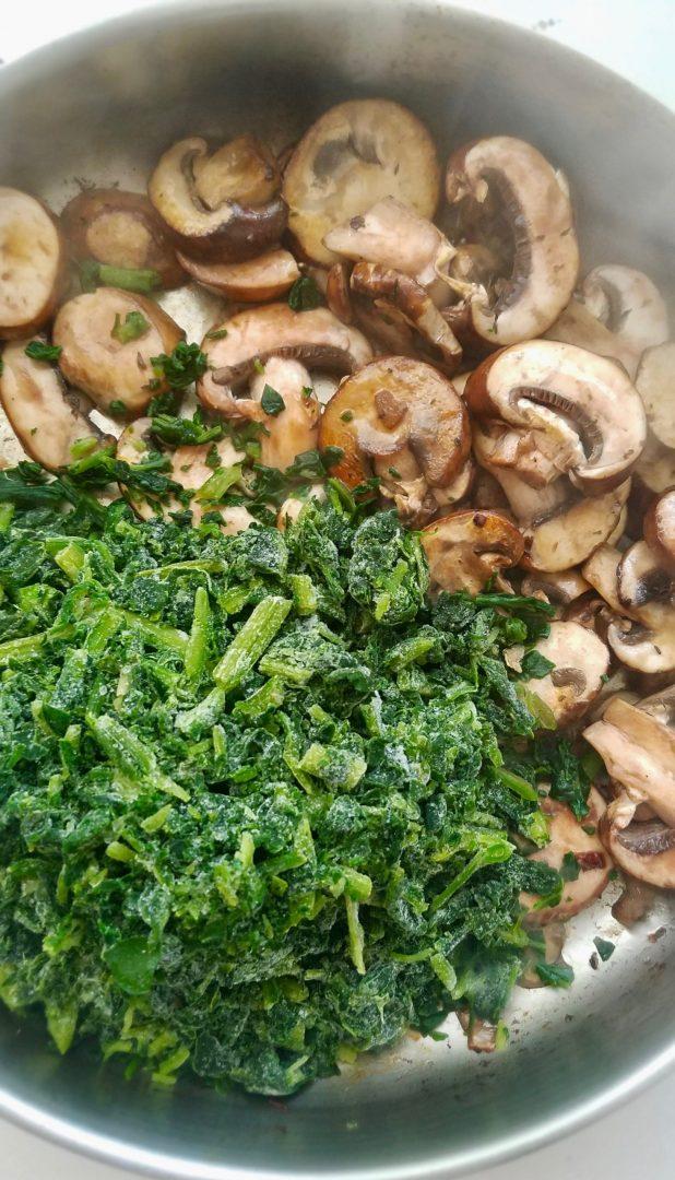 Spinach mushroom casserole vegan