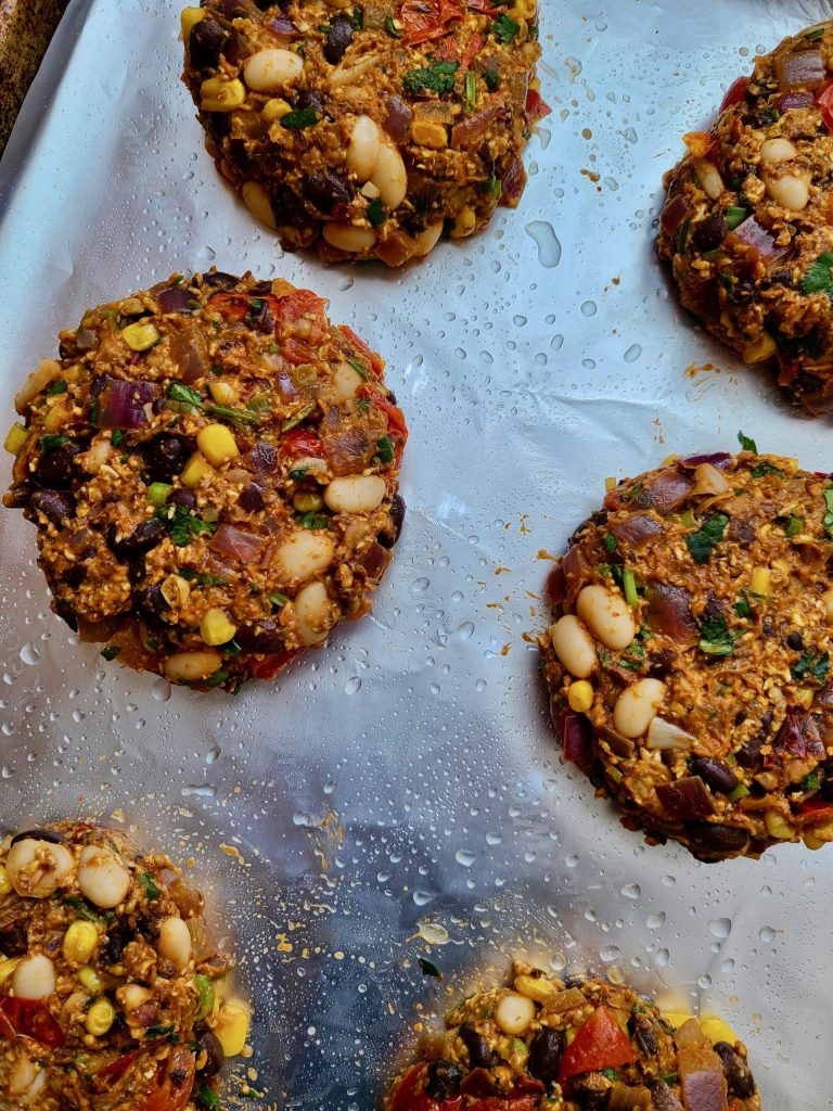 Vegan Black Bean Burger Recipe for Grill