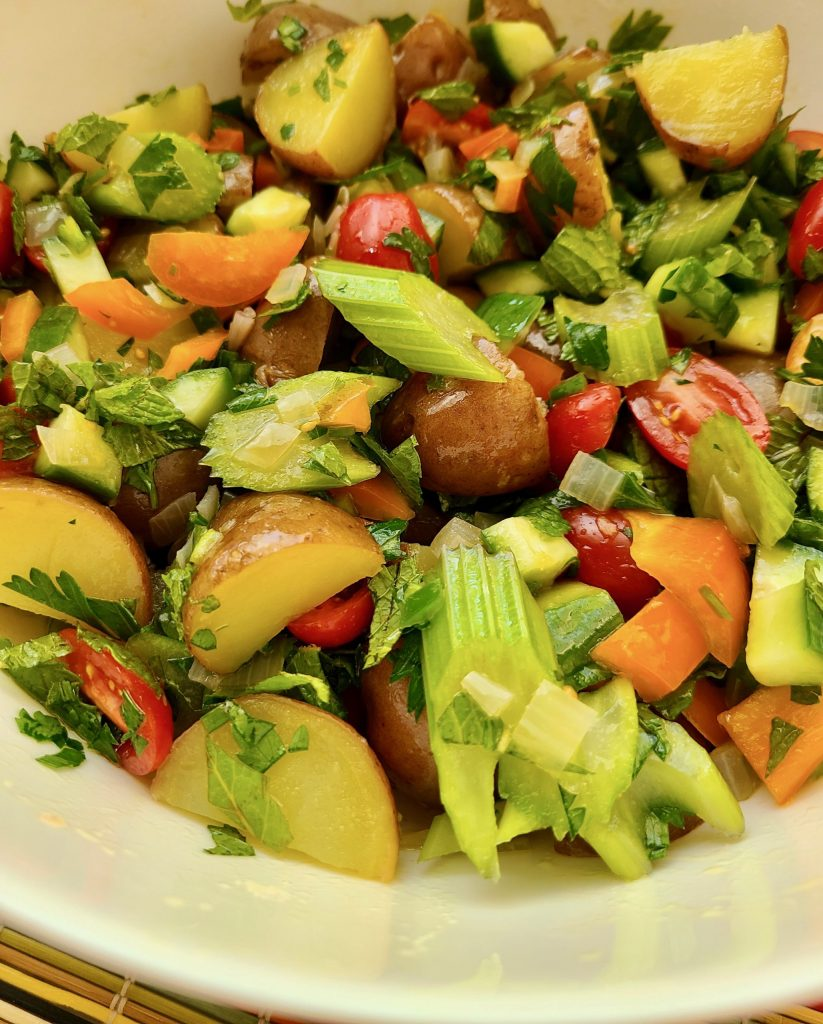 Potato Salad with Mint and Lemon Recipe