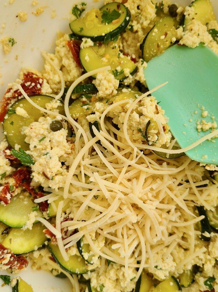 Zucchini and tofu