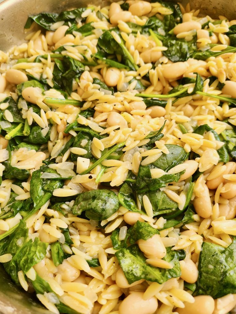 Lemon Spinach Orzo Recipe