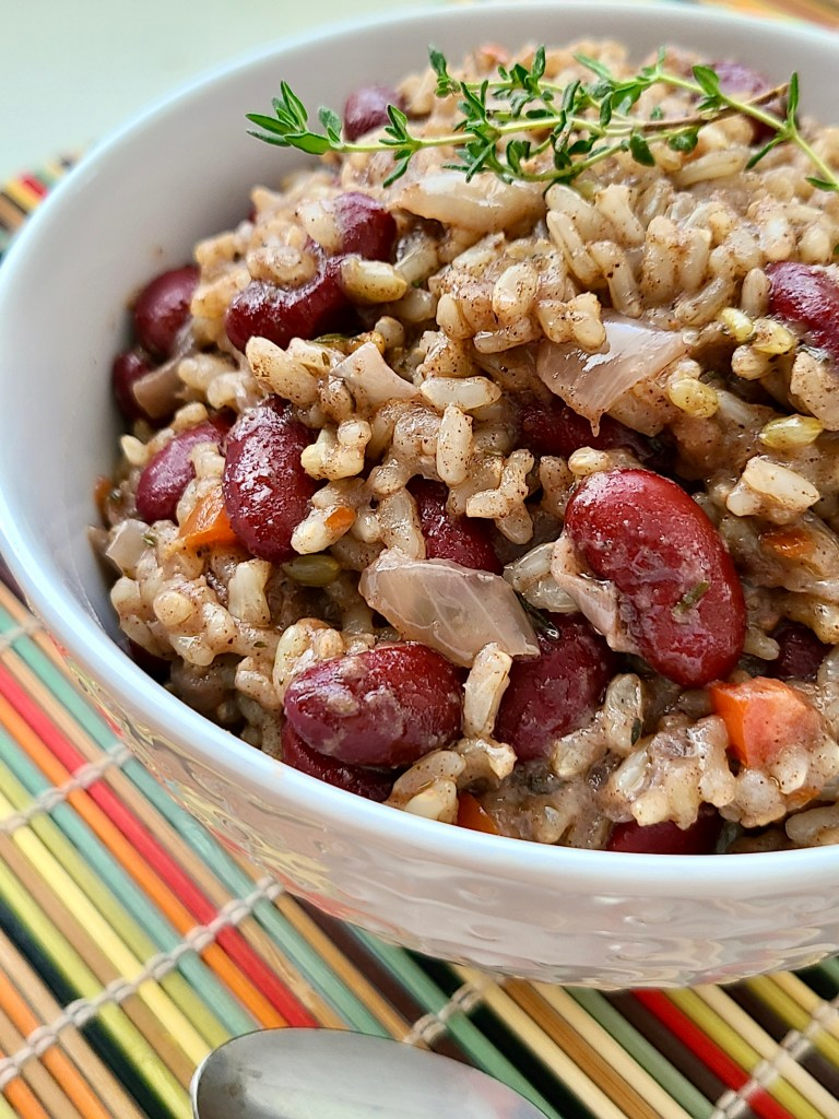 Vegan Slow Cooker Kidney Beans and Coconut Brown Rice