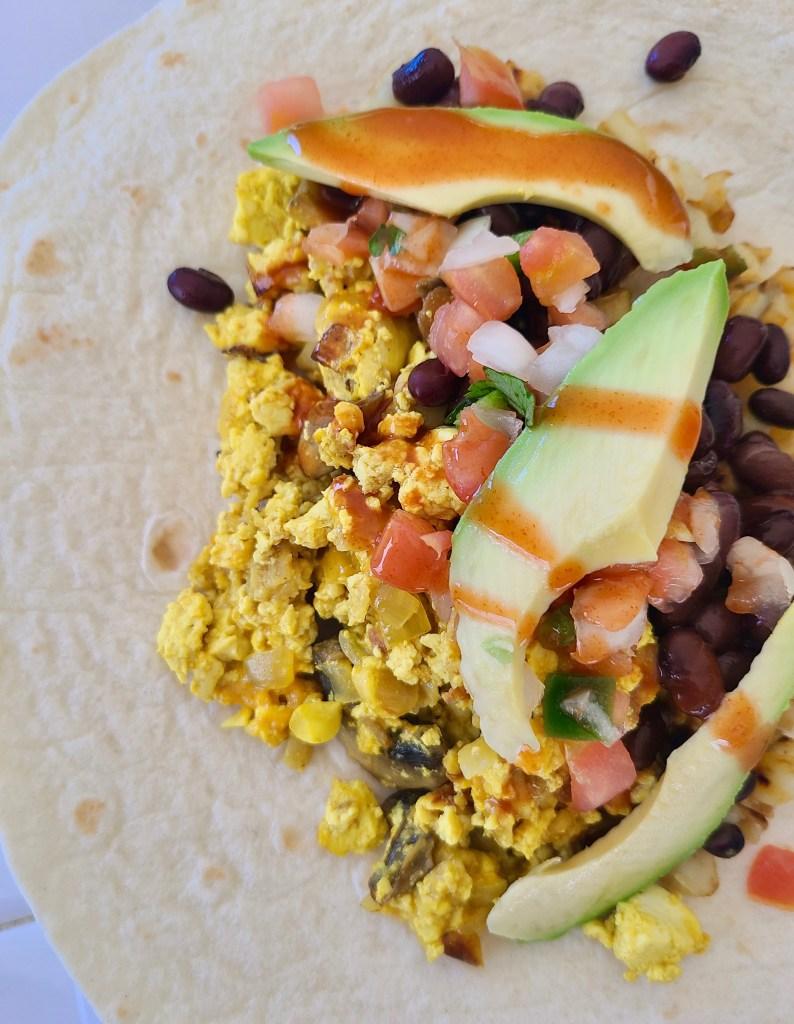 Vegan Breakfast Burrito with Tofu Scramble