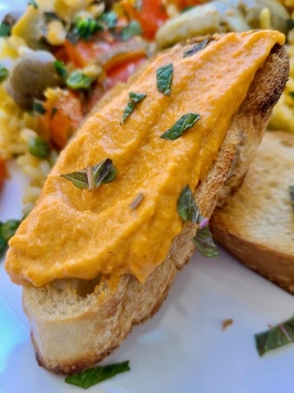 Vegan Romesco Sauce Bread