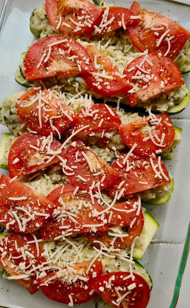 Vegan Stuffed Zucchini with Rice