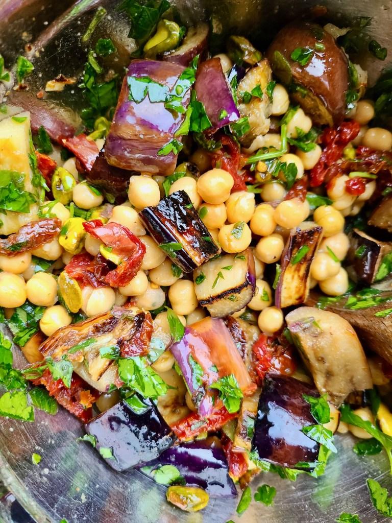 Eggplant Chickpea Vegan Recipe