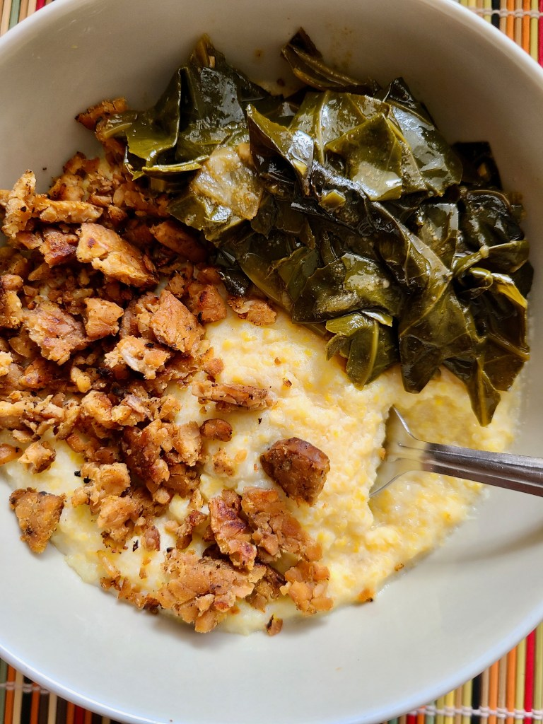 Vegan Meal with Grits