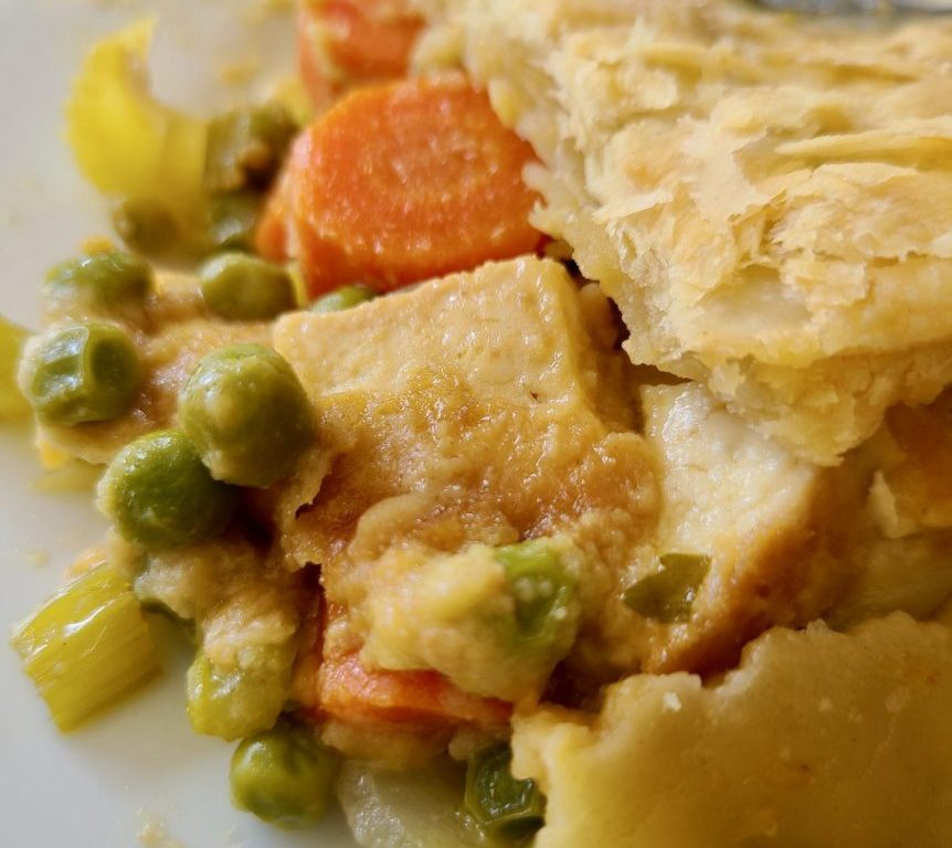 Vegan Tofu Vegetable Pot Pie