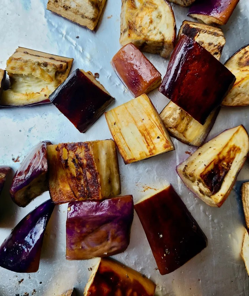 Vegan Grilled Eggplant Salad Recipe