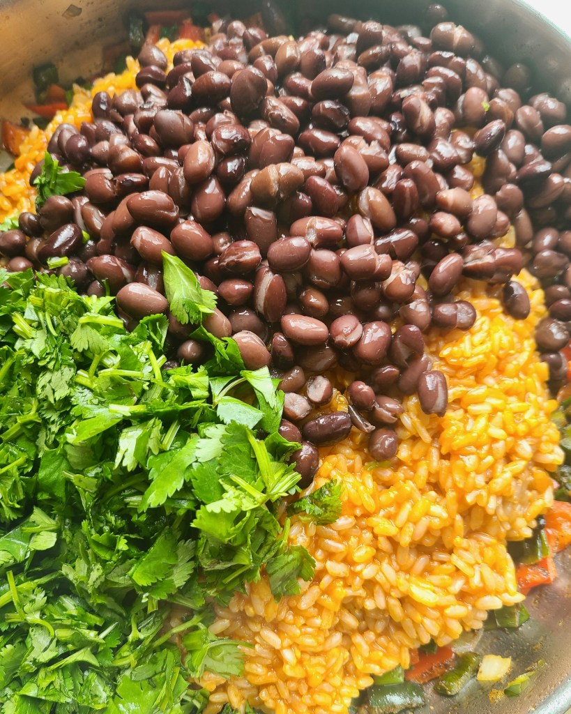 Fiesta Rice and Black Beans Recipe Vegan