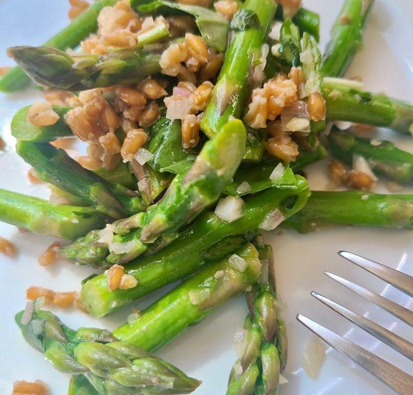 Farro Asparagus Salad Recipe Vegan